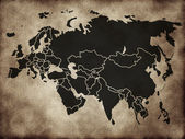 Map of Eurasia — Stock Photo
