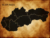 Map of Slovakia — Stock Photo