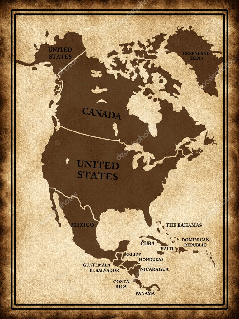 Map Of North America  Stock Photo  Lina - Download map of north america