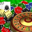 Roulette with the casino chips — Stockfoto