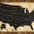 Stock Photo: Map of USA