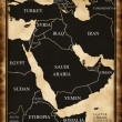 Stock Photo: Map of Middle East