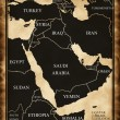 Map of the Middle East — Stock Photo