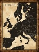 Map of Europe — Stock Photo