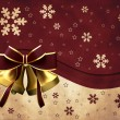 Christmas bells with red bow — Stock Photo
