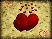 Hearts on background — Stock Photo