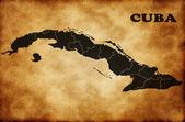 χάρτης της κούβας — Φωτογραφία Αρχείου