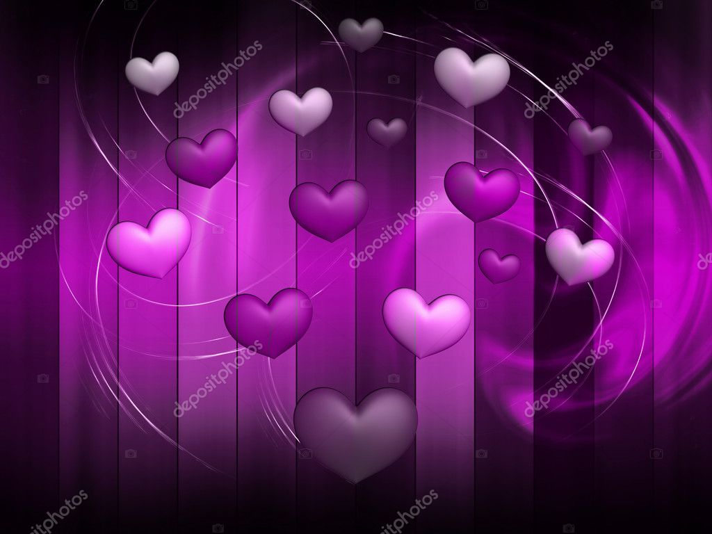 Hearts on an abstract background — Stock Photo #8494797
