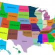 Stock Photo: Map of USA with compass