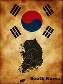 Map of South Korea — Stock Photo