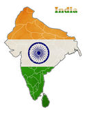 Flag of India map — Stock Photo