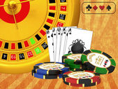 Roulette at the casino — Stock Photo
