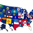 Map of USA — Stock Photo #8633466