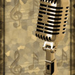 Gold vintage microphone — Stock Photo #8702966
