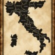 Italy map — Stock Photo