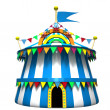 Stock Photo: Illustration of circus tent