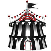 Illustration of a circus tent — Stock Photo