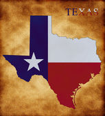 Map of Texas — Stock Photo