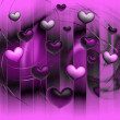 Stock Photo: Hearts on background