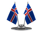 The flag Iceland — Stock Photo