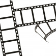 Black Movie Film Strip — Stock Photo