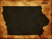 Map State of Iowa — Stock Photo