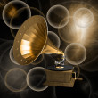 Gramophone on background — Stock Photo