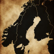 Map of Scandinavia — Stock Photo