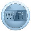 Stock Photo: Button wi fi