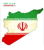 Mapę Iranu z flagą — Zdjęcie stockowe