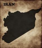 Bir bayrak ile iran Haritası — Stok fotoğraf