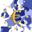 Europe and sign of euro — Stock Photo #9380240