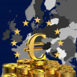 Europe and sign of euro — Stock Photo #9380245