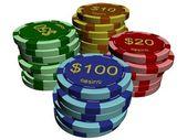 казино стеки — Стоковое фото