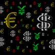Background with the currency — Stock Photo