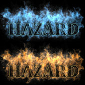 Hazard in a fire — Stock Photo