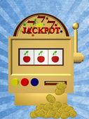 A slot fruit machine — Stock Photo