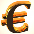 The euro sign — Stock Photo