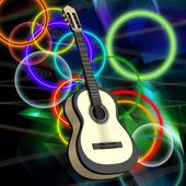 Background with a guitar — Stock Photo