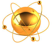 Gold atom — Stock Photo
