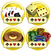 Casino Buttons — Stock Photo