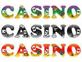 The inscription casino — Stock Photo