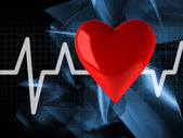 Cardiogram with heart — Stock Photo