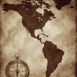 A map North and South America — Stock Photo #9936226