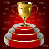 Podstavec s cup — Stock fotografie