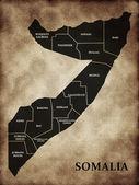 Map of Somalia — Stock Photo