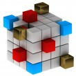Stock Photo: Abstract concept with cubes