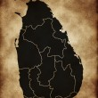 Map of Sri Lanka — Stock Photo