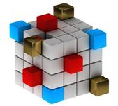 Abstract concept with cubes — Stock Photo