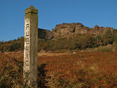 Public Footpath Signpost in the Peak District — Stock Photo